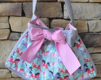Coordinating Tula Carousel Shoulder Bag/Diaper Bag