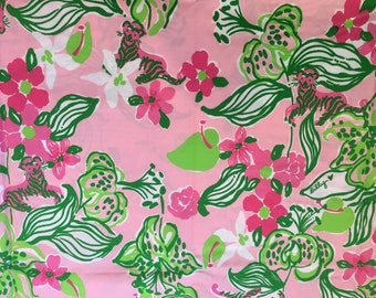 TIGER LILLY Fabric 18x18 or 18x9 Lilly Pulitzer 2014