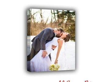 Wedding Photo Canvas, Personalized Picture, Photo to Canvas, Custom canvas print, my photo on canvas, family photo canvas, picture canvas