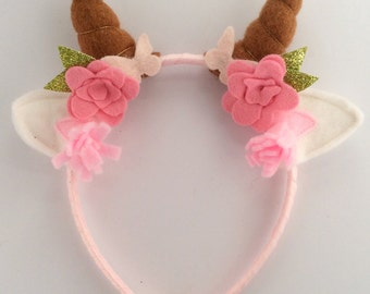 gift for her, Faun horn faun ear headdress