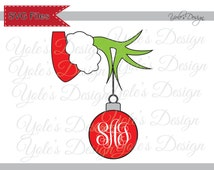 Grinch SVG Christmas Inspired (Monogram Font NOT Included) Layered ...