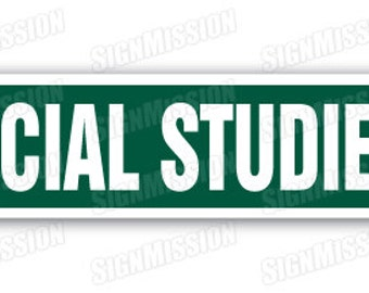 Social Studies Street Sign Teacher Course Educator School Civics