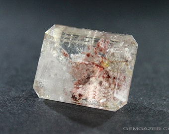 Quartz with Lodolite inclusions, faceted, Brazil.  28.98 carats.