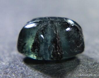 Trapiche Emerald cabochon, Colombia.  1.26 carats