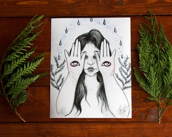 Ruya 8x10 High Quality Lustre Art Print - Mystical Magical Wall Art - By Mehgan Janel