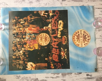 Beatle. Sgt. Peppers Lonley Hearts Club Band. Poster Anabas Press 1987 used