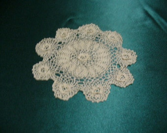 Vintage Crochet Doily made in the 40""