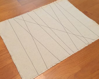 """Handcrafted Placemats  """"Birch Trees"""""""