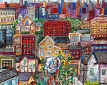 My Father's World, City Farm, Father and Child, Urban Farmer, City Struggle, Contentment, Small Joys, Community Garden