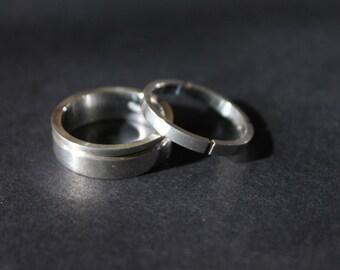 DR' / Silver / Ring / Handmade / Wedding / Gold / Sterling silver