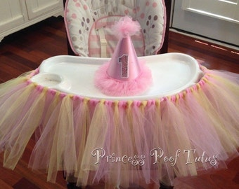 Highchair Tutu - Any Colors Available - Perfect for Baby Girl's Birthday!