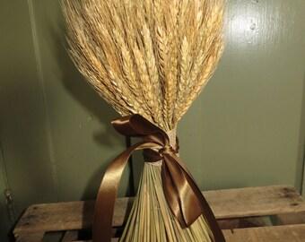 Standing Wheat, Wheat, Dried Wheat, Wheat Sheaf, Handmade Standing Wheat, Handmade, All Natural, Bearded Wheat