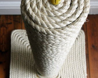 Cat Scratching Post: Big Chunky Yellow Edition