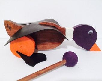 Purple Mallard Duck