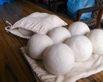 Hand-felted Wool Dryer balls