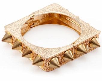 Swaroski Rose Gold with Spike Bracelet