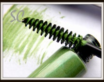 Green Mascara 'Candy Crush Green' Water Resistant Pro-Vitamin B5 Panthenol Cosplay Gothic Steampunk Costume Makeup