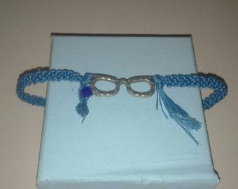 Glasses macrame braided bracelet