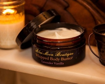Whipped Shea and Coco Body Butter+Pure Lavender Vanilla Phthalate Free Fragrance Oil+8 oz.