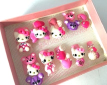 KITTY  >>sweet nails,kawaii nails ,nail art ,nail 3d ,fake nails,acrylic nails,deco,cartoon nails,hello kitty,pinknails