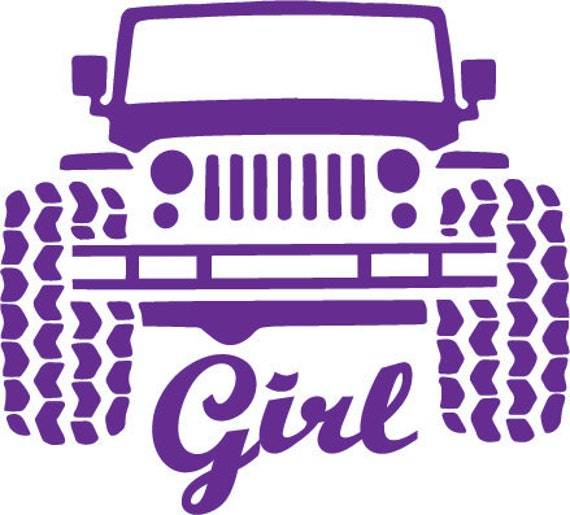 Jeep Girl Vinyl Decal Jeep Yeti Decal Off By Argraphicdesigns