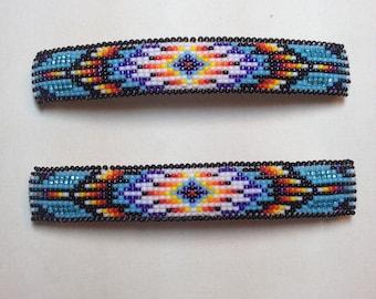 Native American beaded barrettes.