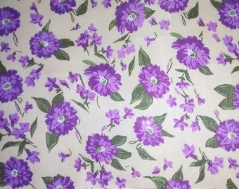 purple flower fabric by the yard roses lily flower floral cotton fabric sewing quilting 100% quality cotton fabric by the yard (1006-2)