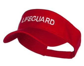 Lifeguard Embroidered Strap Back Visor