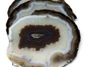 black druzy quartz agat slice tea coaster gemstone coasters 3 coaster set home decor, drinking coasters. housewarming gift