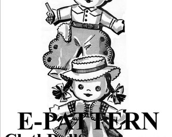 E-Pattern – Cowboy Joe & Suzie Sewing Pattern #EP 51