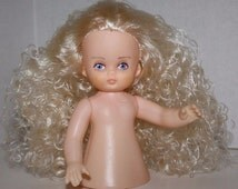 """Ariel, Fibre Craft 5-1/2"""" Tall Air Freshener Doll 3055-01 for Doll Making, Home Decor Crafts Long Curly Blonde Hair Girl"""