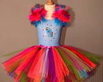 Tutu dress incorporating Rainbow dash motif