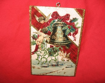 Victorian Christmas ornament with angels-cherubs