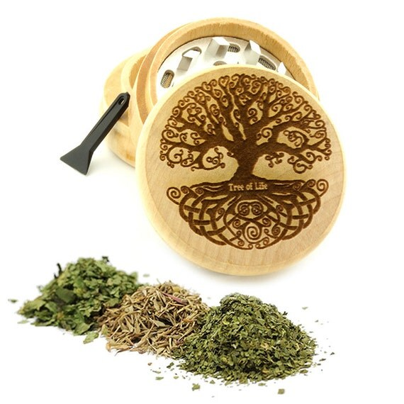 Tree Of Life Engraved Premium Natural Wooden Grinder Item # PW61716-30