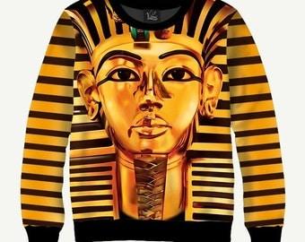 Tutankhamun, Pharaoh, Egypt - Men's Women's Sweatshirt | Sweater - XS, S, M, L, XL, 2XL, 3XL, 4XL, 5XL