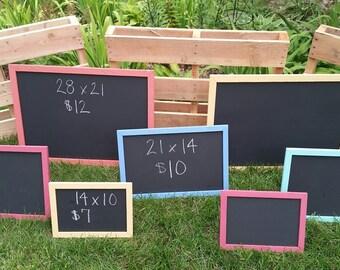 Framed Chalkboards, Multi Colored Chalkboards, Pallet Chalkboards