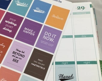 Motivational Quotes #1, Premium Matte Vinyl, Planner Stickers, Removable, Repositionable, Reusable, For ECLP & Other Planners, Vinyl Sticker