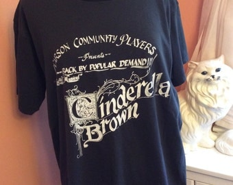 Vintage 90s T-Shirt, Cinderella Brown, Musical, Theater Shirt (A990)