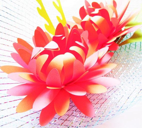 Diy easy paper flowers diy paper flower templates svg cutting files large paper flowers diy for Easy paper cutting flowers