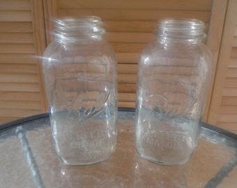 Half Gallon/Two Quart Square Ball Mason Jars (Perfect Mason)