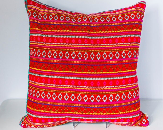 "Sofia: Argentinian knit throw pillow 20"" x 20"""