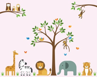 Safari Animal Wall Decal, Safari Animal, Safari Wall Decal - Large