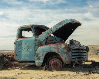 Abandoned in the Desert - 12x16 Matted Fine Art Print