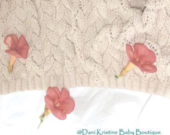 Hand knited Baby Blanket, Baby Blanket,  crib size