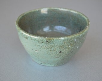 Hand Made Turquoise and Green Speckled Bowl