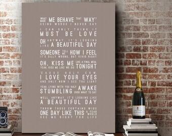 Elbow One Day Like This Inspired Lyrics Love Song Wall Art Song Lyrics Home Decor Anniversary Wedding Gift Typography Lyric PRINT