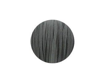3mm Charcoal Skinny Headband Elastic - 5 Metres