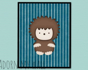 20% OFF Hedgehog print, nursery art, hedgehog, nursery decor, hedgehog art, nursery wall art, woodland nursery, nursery print, kids wall art