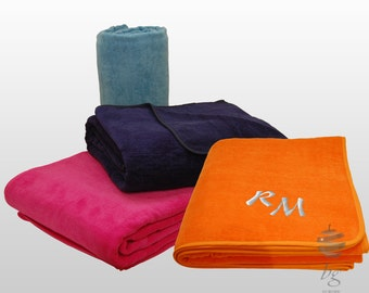 """Extra Large Beach Towel Personalized Embroidered Monogram  - 100% Cotton 600gsm - Size 170cm x 200cm (66"""" x 78"""")"""