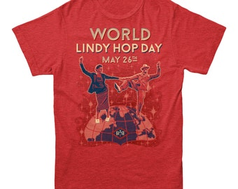 Behind the Beat | World Lindy Hop Day Swing Dancing Frankie Manning T-shirt Men's and Ladies Sizes